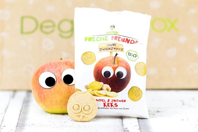 Degustabox April 2015, Degustabox Gewinnspiel, erdbär Freche Freunde Apfel Ingwer