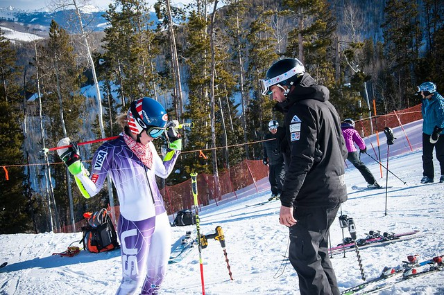 Brandon Dyskerhouse and Mikaela Shiffrin