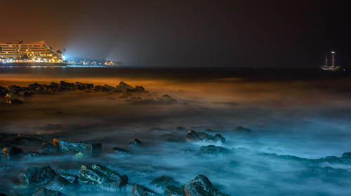 The Pacific Ocean at Night by Geoff Livingston