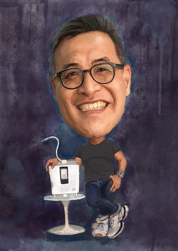 Bernard Chan digital caricature painting with Kangen 8 - 4