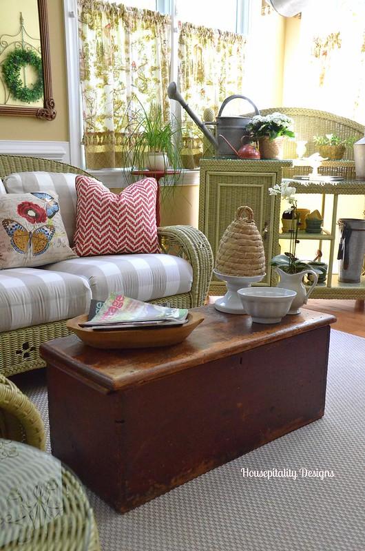 Antique Blanket Chest/Sunroom-Housepitality Designs