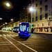 Small photo of Tram at night