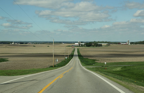 road county trees signs field lines landscape spring corn scenery view pavement farm telephone hill barns scenic utility farmland relief driveway valley fields farms silos salem poles champaign agriculture schoolhouse topographic slope pleasant township topography stateroute507
