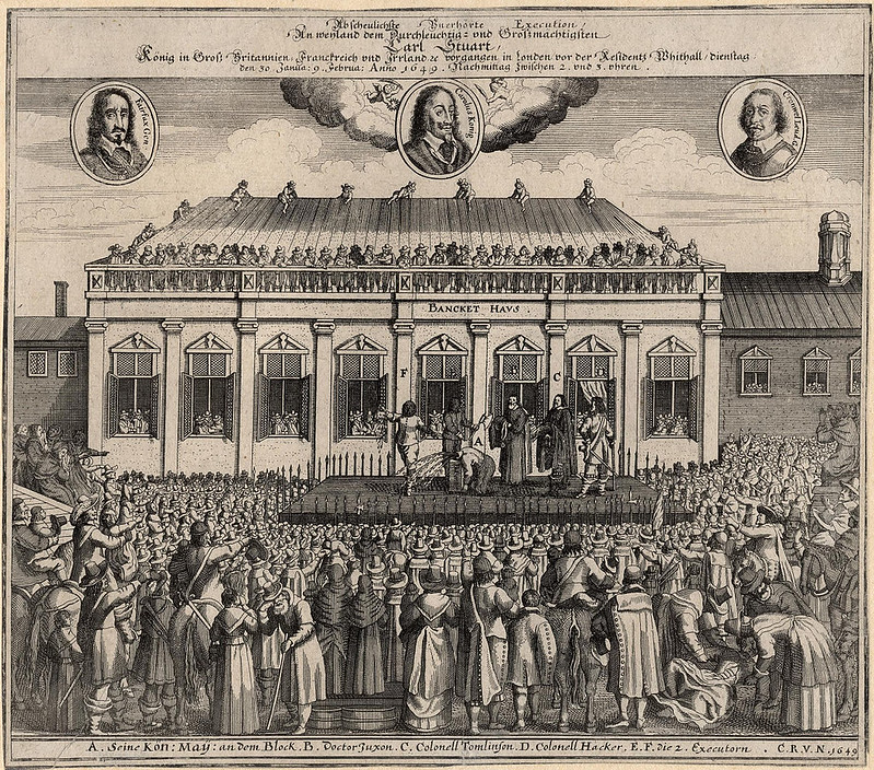 The execution of King Charles I, by unknown artist