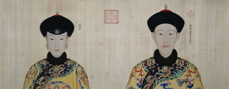 Inauguration Portraits of Emperor Qianlong and the Empress, by Giuseppe Castiglione