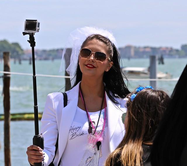 Happy Bride in Venice