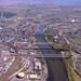 Aerial view of the River Tyne, 1983