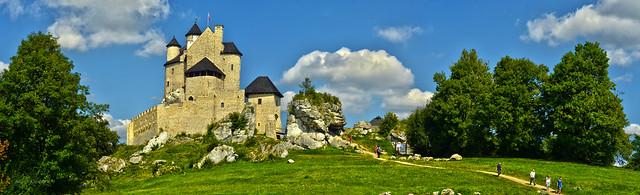 Bobolice castle panorama