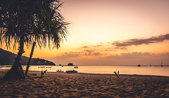 Sunset at a Beach of phuket, Thailand
