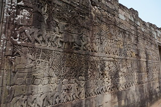 Large wall carving at Bayon temple