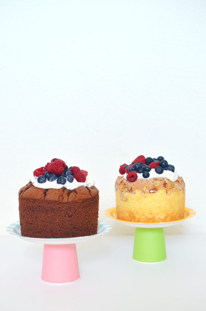 paper plate cake stands