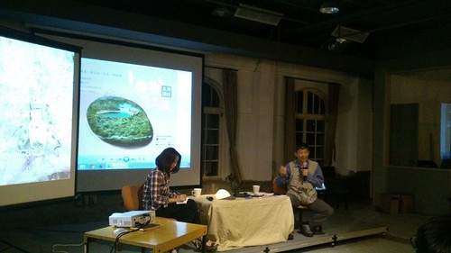楊正澤老師(右)、范欽慧(左)。(林倩如攝)