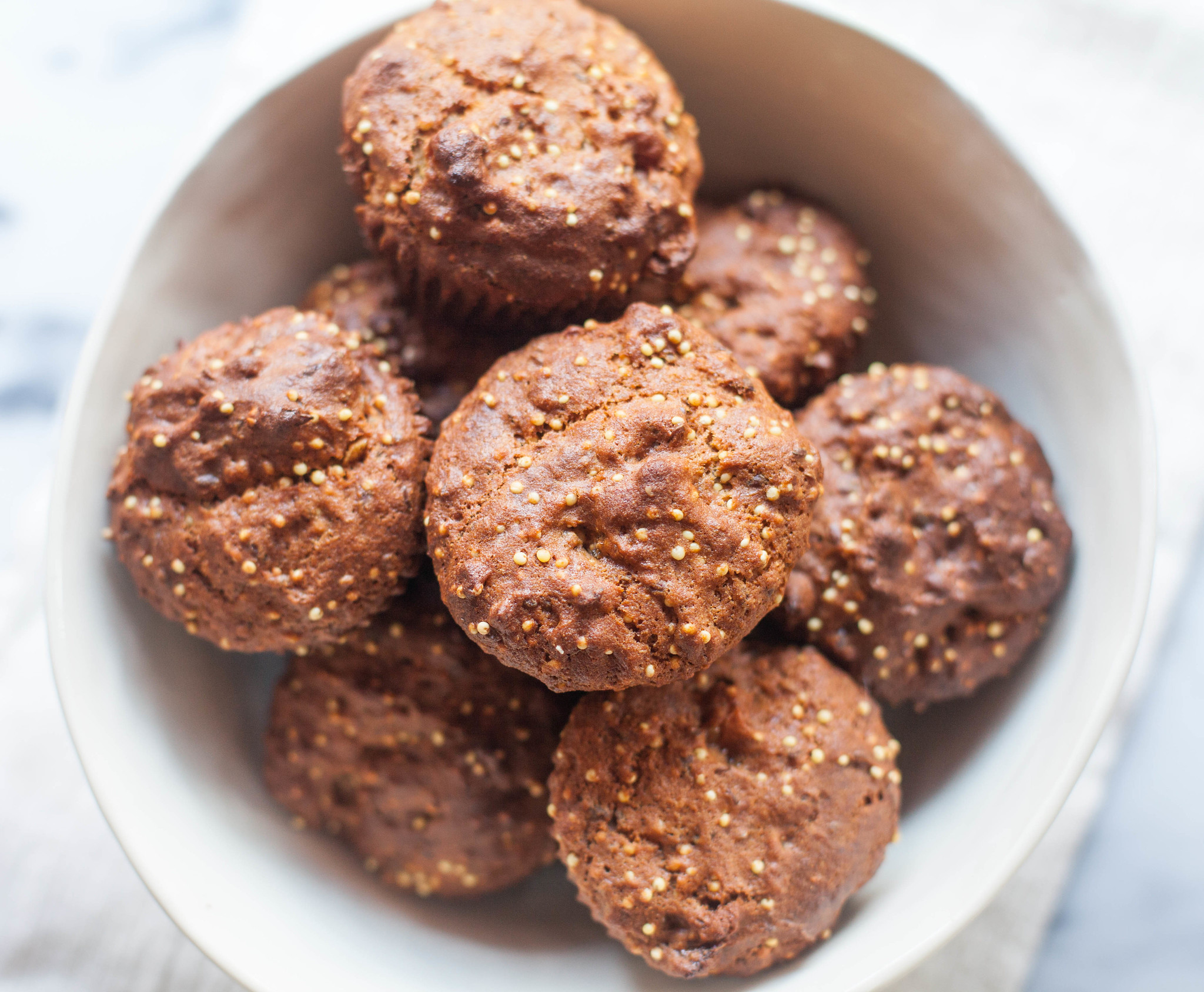 fig and millet muffins