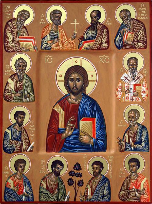 Cristo y colegioapostólico
