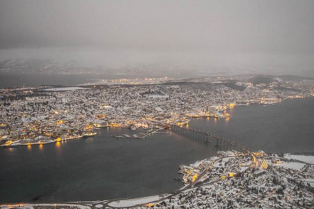 Vistas desde el funicular Fjellheisen