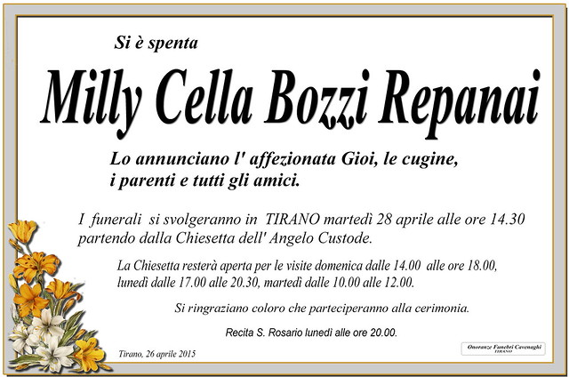 Milly Cella Bozzi Repanai