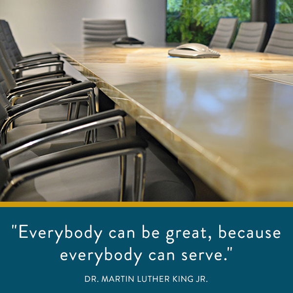 Everybody can be great, because everybody can serve.
