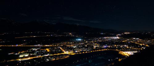 city night stars landscape lights cityscape slovenia slovenija nightcity kranj
