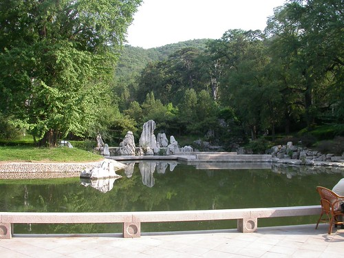 020 lake with stone sculpture, Fragrant Hills Hotel, Beijing