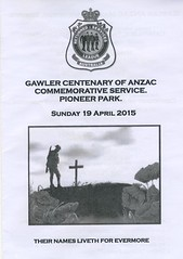 Gawler Centenary of Anzac commemorative service 19April2015 (1)