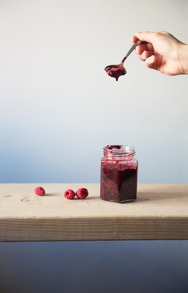 Berry Balsamic Chia Jam | Cashew Kitchen