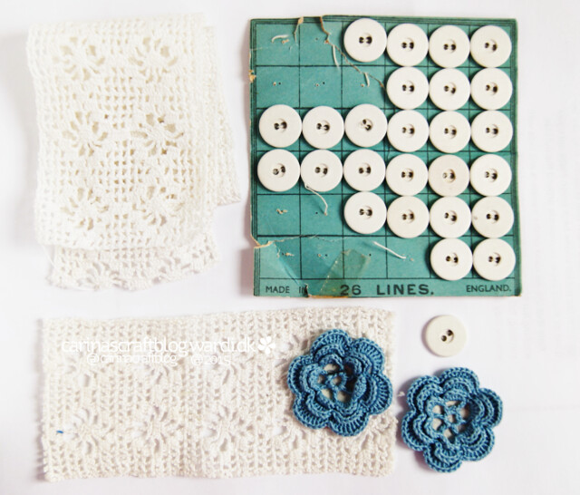 Lace and old buttons