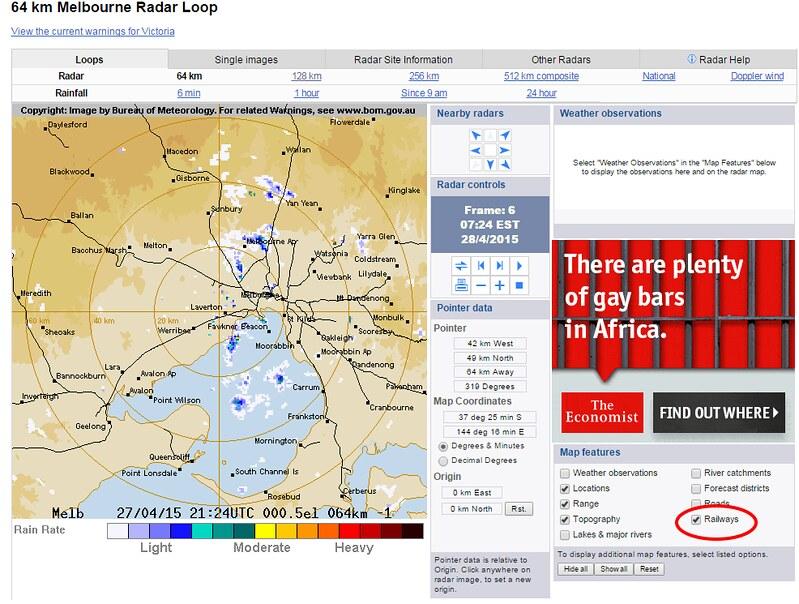 Melbourne rain radar
