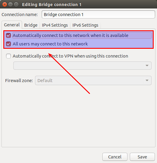 How to configure a Linux bridge with Network Manager on Ubuntu - Ask