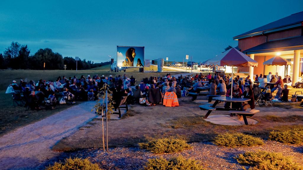 Cinéma en plein air au Mont Arthabaska de Victoriaville