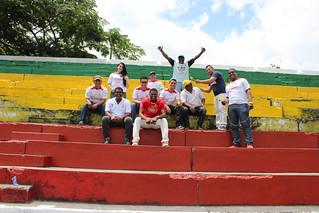 Minga de recuperación estadio Pradera