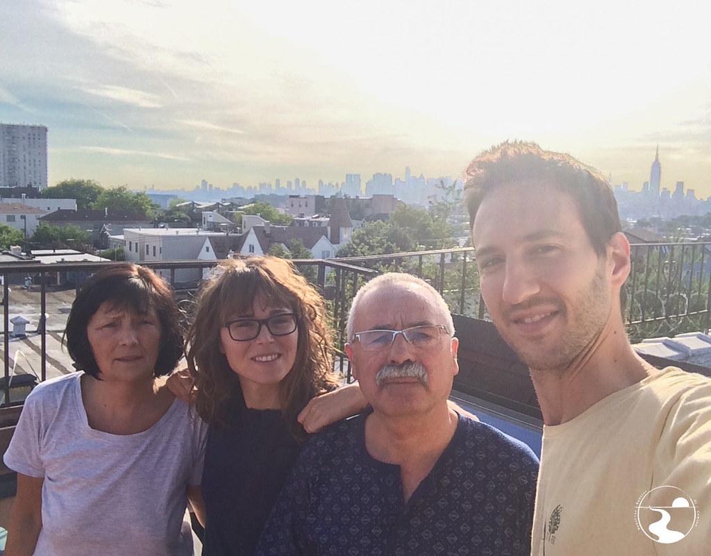Amanecer en la terraza, Hoboken