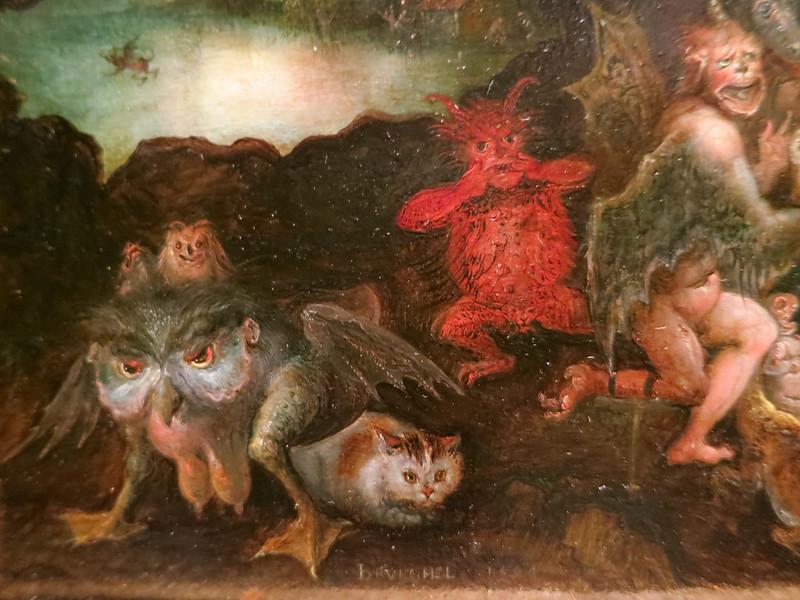 Jan Brueghel The Elder - The Temptation of Saint Anthony, 1594 (detail 2)