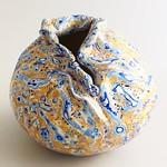 A polymer clay vase