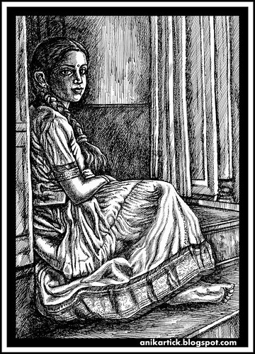 TAMIL ART,TAMIL DRAWINGS,TAMIL TRADITIONAL ART,TAMIL VILLAGE ART,TAMIL HERITAGE ART,TAMIL DRAWINGS,TAMIL TRADITIONAL DRAWING,TAMIL GIRLS,TAMIL LADIES,TAMIL WOMEN,DRAWINGS,ILLUSTRATIONS,SKETCHES - Artist Anikartick,Chennai,Tamil Nadu,India