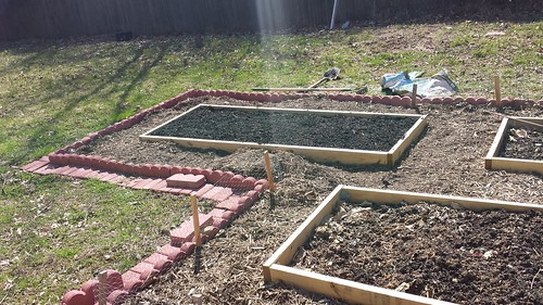 Filled garden bed