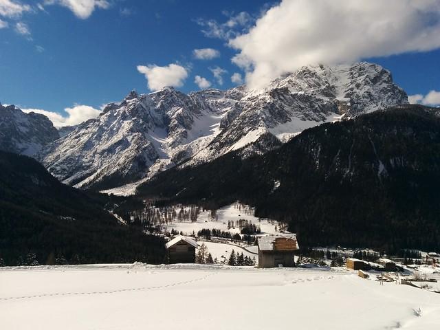 Blick auf die Sextner Dolomiten