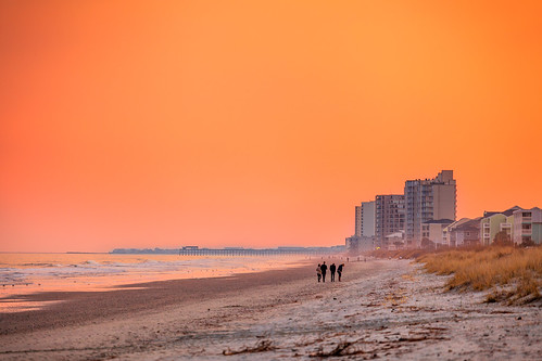 ocean sunset orange beach myrtlebeach southcarolina