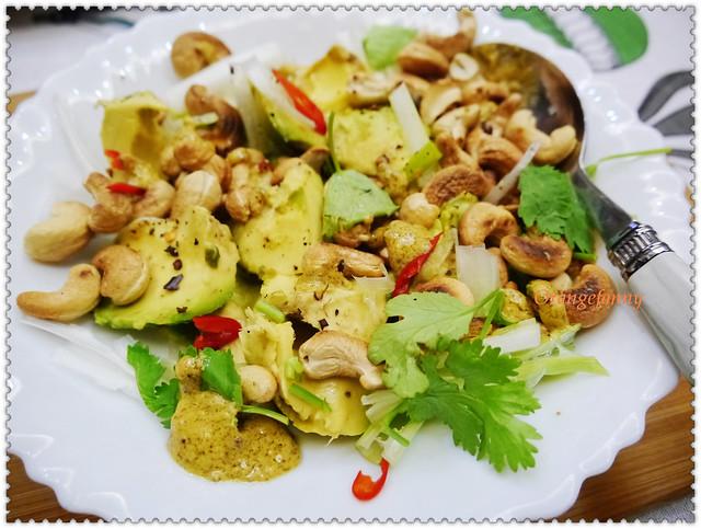 150420 酪梨、小蔥頭、胡芫荽與辣椒沙拉佐烤杏仁-02