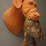 Russell Wrankle; Frog Muzzle; Ceramic, glaze; 13x12x14; 2015 -