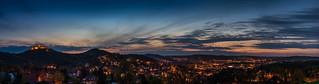 Wartburg Eisenach 근처 의 이미지. blue panorama hour wartburg eisenach blaue stunde