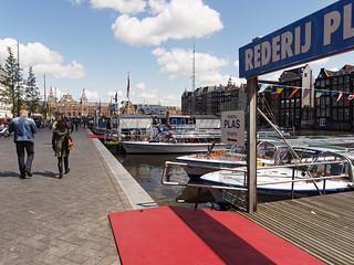 Rederij Plas 의 이미지. amsterdam damrak