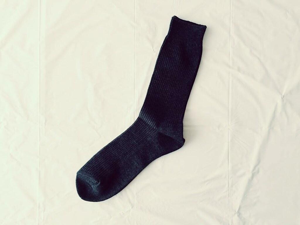 ユニクロの無地の靴下