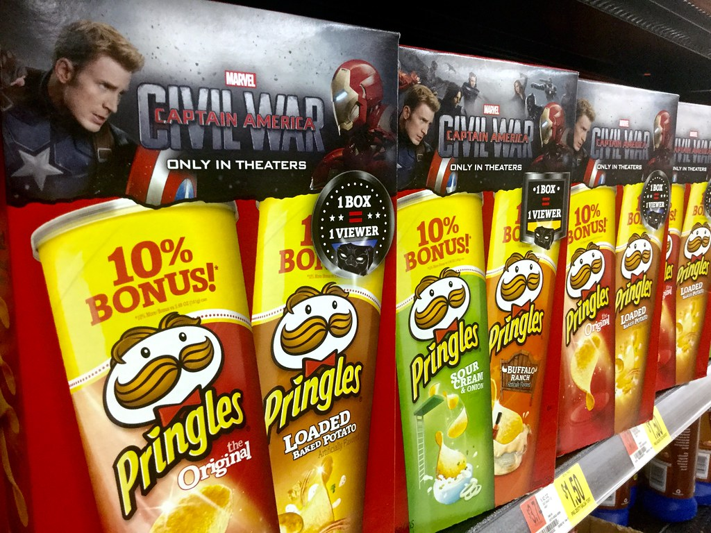 Pringles, Captain America Civil War Promotional 2 Pack, Walmart