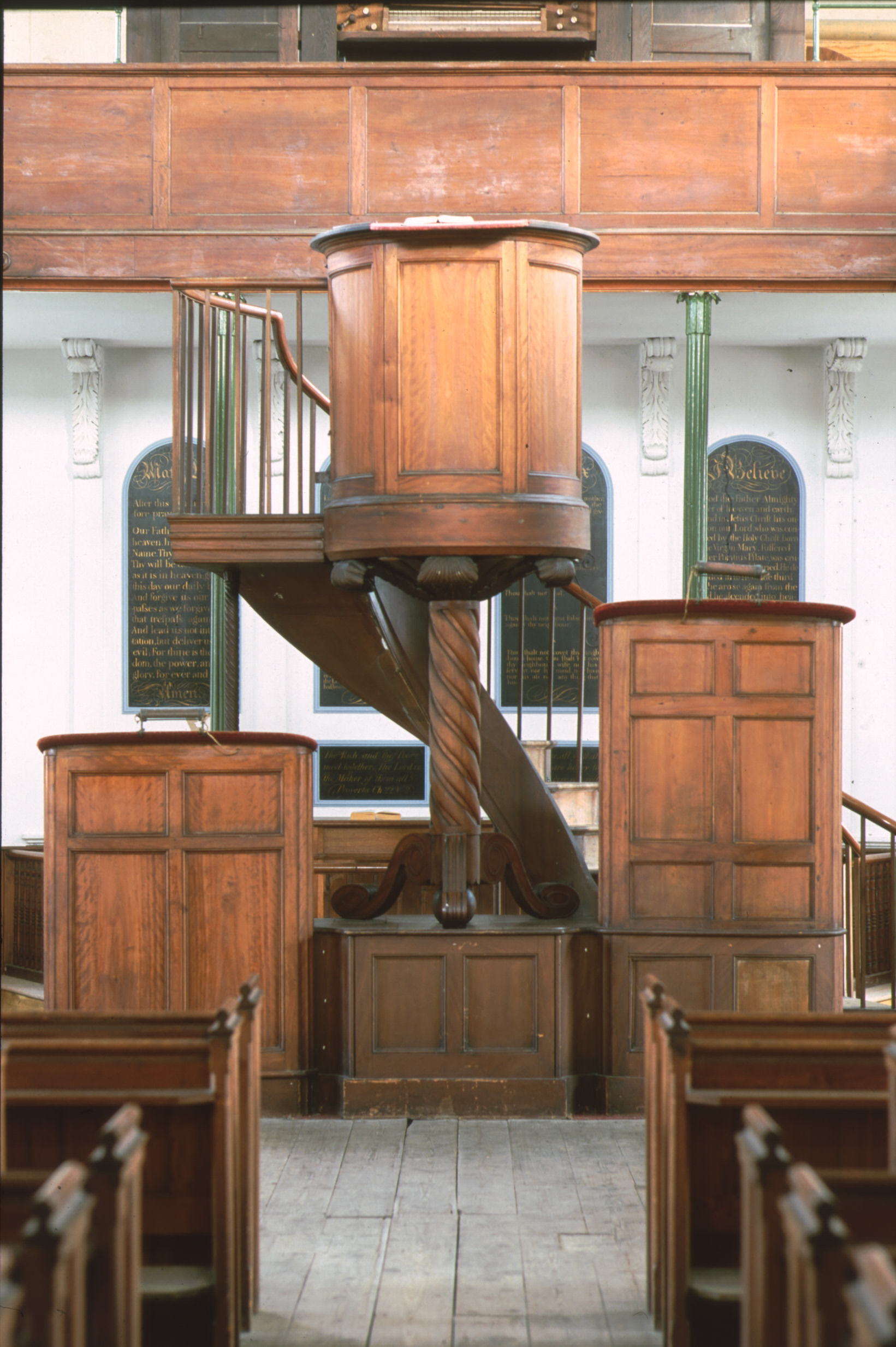9. Stand in a triple decker pulpit