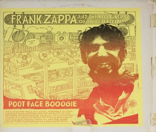 "FRANK ZAPPA & MOTHERS OF INVENTION POOT FACE BOOOGIE 12"" LP VINYL"