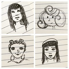 I've been doodling girl faces. What do you guys #doodle?
