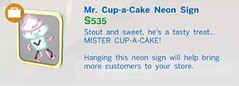 Mr Cup a Cake Neon Sign