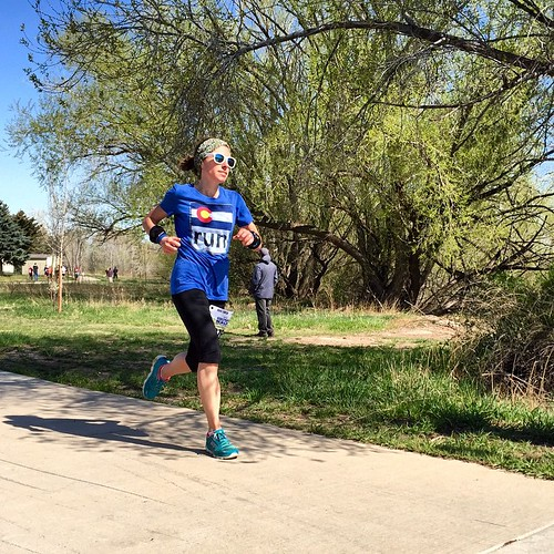 Finishing strong at the Horsetooth Half.