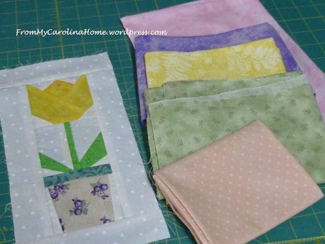 Spring Tulip Mini Quilt - 1