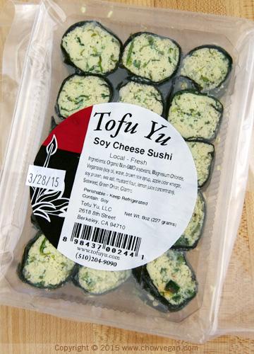 Tofu Yu Soy Cheese Sushi